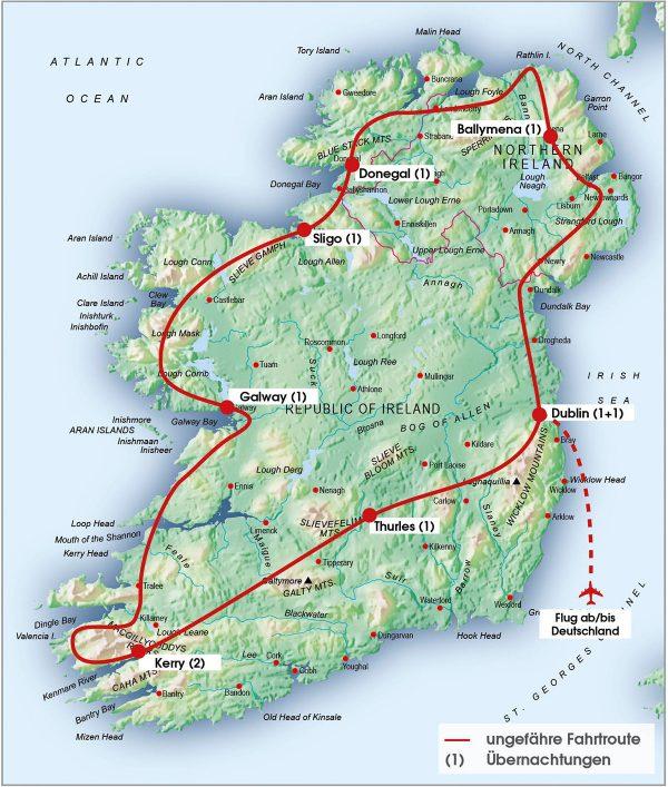 routenkarte-gruppe-irland-10tage