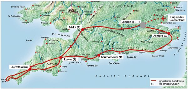 routenkarte-gruppe-suedengland-cornwall-11-tage-2021