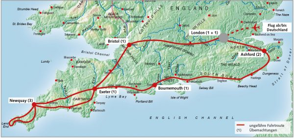 routenkarte-gruppe-suedengland-cornwall-11-tage-2022