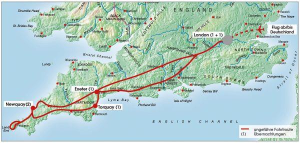routenkarte-gruppe-suedengland-cornwall-7-tage-2021