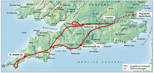 routenkarte-gruppe-suedengland-kleingruppe-8-tage-2021