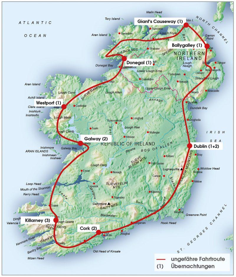 routenkarte-irland-14tage
